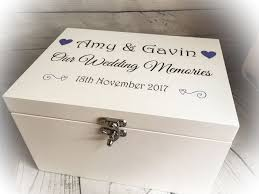 wedding keepsake box wooden white printed wedding keepsake memory box chest