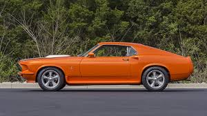 1969 mustang orange 1969 ford mustang resto mod s182 1 indy 2016