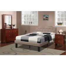 High Class Bedroom Furniture by Bobkona Finely Upholstered Platform Twin Bed