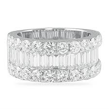 baguette diamond band 4 00 ct and baguette diamond wedding band ring