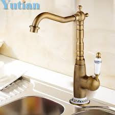 wholesale kitchen faucets 2018 wholesale kitchen faucet antique brass swivel bathroom basin