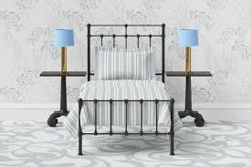 edwardian style wrought iron bed in double with mesh base