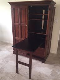 Computer Armoire Sauder by Furniture Cinnamon Cherry Desk Armoire Desk Armoire