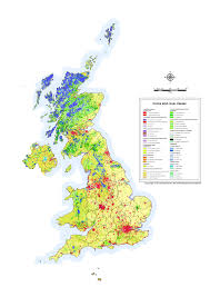 Large Scale Map Of Our Countryside Land Use Map Of United Kingdom Reveals Large