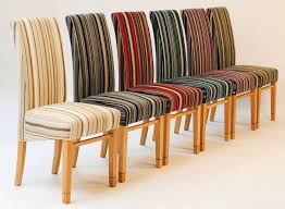 dining chairs winsome striped fabric dining chairs inspirations
