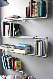 faux galvanized pipe bookshelf a joyful riot