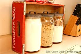 red kitchen canister set the cozy old