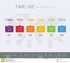 World Map Timeline by Vector Timeline Info Graphic With World Map Stock Vector Image
