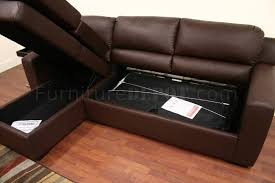 Sofa Bed Sectionals Faux Leather Convertible Sofa Bed Sectional Soren Brown