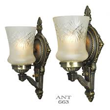 antique lights for sale edwardian wall sconces pair of antique lights and cut glass shades