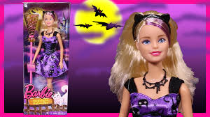 barbie doll moonlight halloween witch toy review youtube