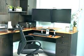 Dual Monitor Computer Desks 2 Monitor Computer Desk For Dual Monitors Desks Top Mount It