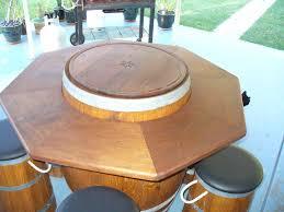 Diy Bistro Table Whiskey Barrel Bistro Table U2014 Unique Hardscape Design Diy