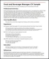f u0026b manager resume sample gallery creawizard com