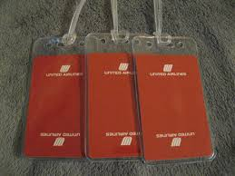 Luggage United Airlines Ual Luggage Tags United Airlines Ua Airplane Vintage Air