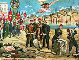 The Ottoman Turks File Lithograph Celebrating The Ottoman Constitution Png