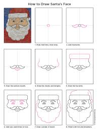 How To Draw Halloween Things Easy by Santa U0027s Face Tutorials Santa Face And Face