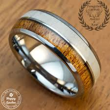 buy a custom tungsten carbide ring with genuine antler and