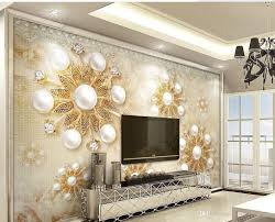 home design wallpaper free download home decor living room natural art gold european pearl lace 3d