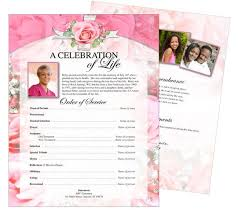 memorial page template 28 images funeral program templates