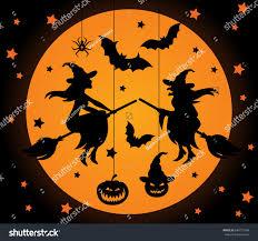 halloween vector elements set laser cut stock vector 684712948