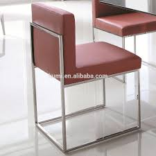 low back stainless steel square legs dining chair buy dining