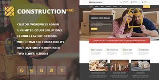 renovation theme 40 best construction wordpress themes 2018 for create website
