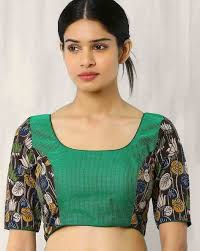 open blouse buy picks multicoloured kalamkari print back open