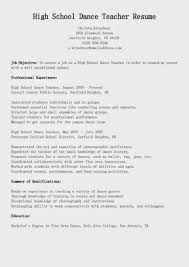 summary or objective on resume high school dance teacher resume sample featuring awesome job high school dance teacher resume sample featuring awesome job objective and work experience and summary of qualifications
