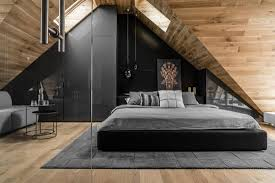 attic designs bedroom gorgeous attic with wood elements and black king sized