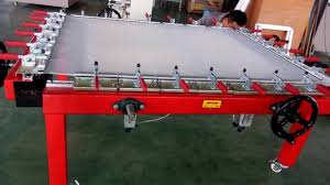 Stretching Table by Screen Printing Mesh Stretching Machine Youtube