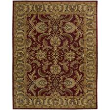 Area Rugs India Nourison India House Burgundy 8 Ft X 10 Ft 6 In Area Rug 212740