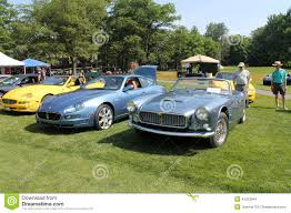 vintage maserati convertible maserati sports cars in lineup new and old editorial stock image