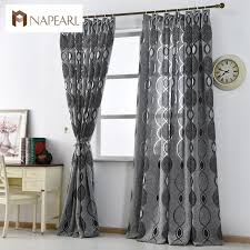 And Black Fabric For Curtains Modern Curtain Home Decoration Living Room Curtains Window Fabric