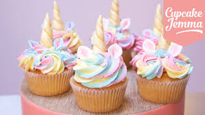 cute unicorn cupcakes with magic horns and ears cupcake jemma