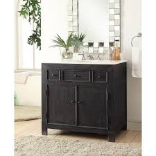 Black Distressed Bathroom Vanity Drop In White Vanity Sink