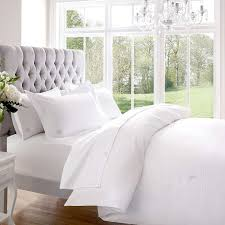 Good Thread Count Bedroom Wood Headboard With White Toss Pillows And White 1000