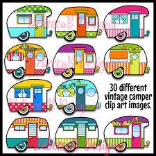 retro campers vintage retro camper clip art
