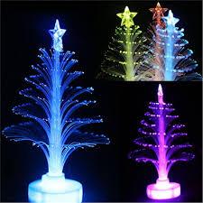 1x colorful led fiber nightlight mini christmas tree lamp light