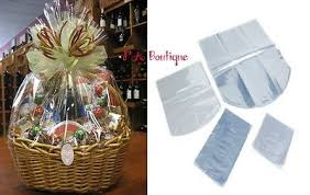 where to buy plastic wrap for gift baskets 24 x30 dome shrink wrap gift basket bags seamless clear 6