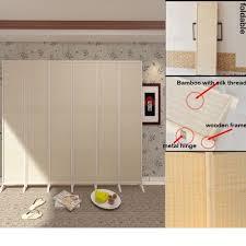 natural silk thread bamboo room divider home u0026 furniture