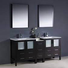 72 In Bathroom Vanity by Shop Fresca Bari Espresso Undermount Double Sink Bathroom Vanity