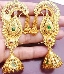 gold earings 15 beautiful attractive wedding earrings for brides styles at