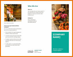 6 free brochure templates for word itinerary template sample