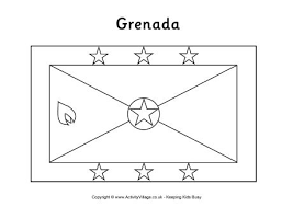 grenada flag colouring page