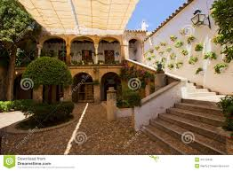 house with courtyard courtyard of a typical house in cordoba stock photo image 34715406