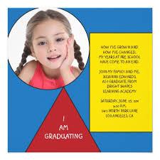 kindergarten graduation announcements personalized kindergarten graduation invitations