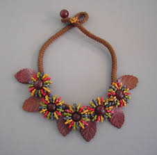 wood beads necklace images Miriam haskell wooden beads and carved leaves necklace morning jpg