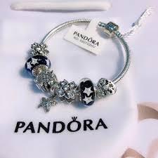diy glass bead bracelet images Pandora bracelet vintage silver charm black star glass bead jpg
