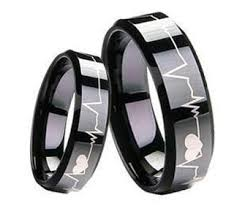 unique matching wedding bands heartbeat unique matching tungsten wedding bands set for sale